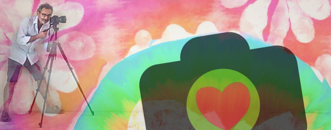 montaje hippie de Xisco Fuster y logo la Fotografia es mi pasion
