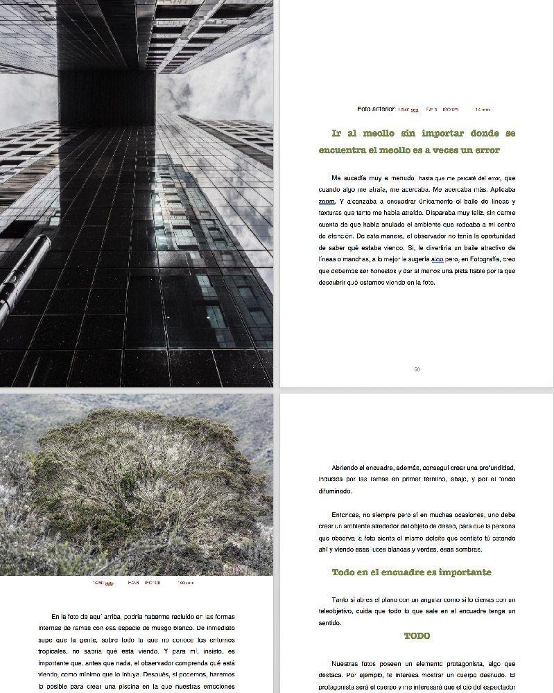 4 páginas del libro el corazon del fotografo xisco fuster la fotografia es mi pasion