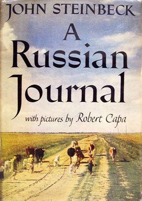 "portada en color del libro de Steinbeck ""A Russian Journal"""
